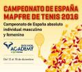 Campeonato de España Absoluto: Cierre de inscripción 29 de Noviembre